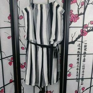 🌼 Free Press Belted Romper Strappy Striped